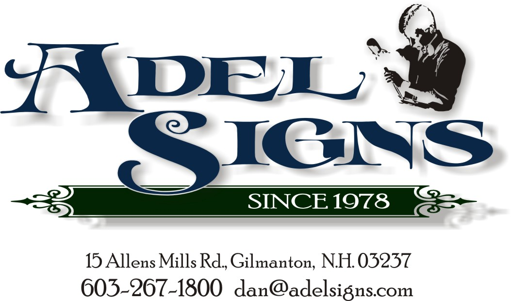We've carved wood signs since 1978! Serving Laconia,N.H.,Belmont,N.H., 	Concord, N.H. and everywhere!